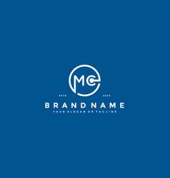 Letter mc logo design vector