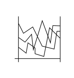 line charts icon vector image