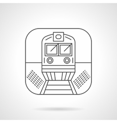 Locomotive icon flat line design icon vector image