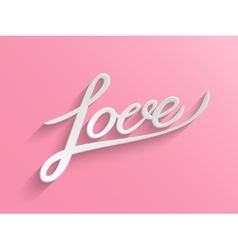Love lettering Greeting Card vector image