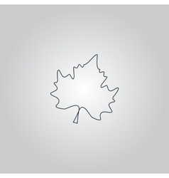 Maple Leaf Silhouette vector image