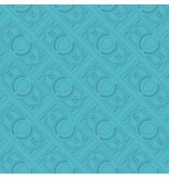 Money pattern thin vector image