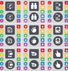 Monitor Binoculars Smartphone Music file Apple vector