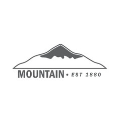 monochrome emblem of mountain vector image