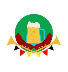oktoberfest beer pitcher vector image