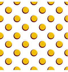 Oreo biscuit pattern seamless vector