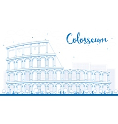 Outline Colosseum in Rome Italy vector