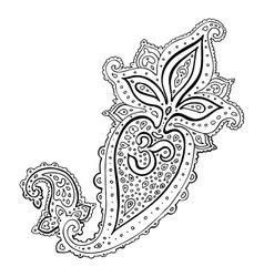 Paisley Ethnic ornament Om Aum Symbol vector