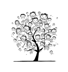 People tree for your design vector