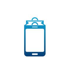 phone shop logo designs mobile shopping logo vector image