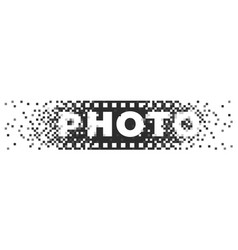 photo logo analogue digital and film photography vector image