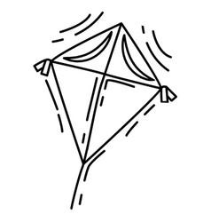 playground kids kite playingchildrenkindergarten vector image