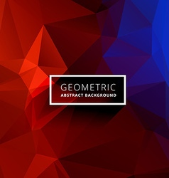 Red blue geometric triangle background vector