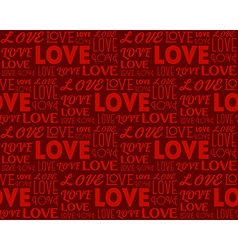 Repeating word Love in different fonts Seamless vector image