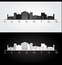 Scranton pennsylvania skyline and landmarks vector