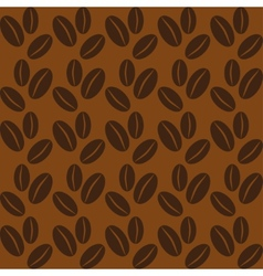 Seamless background with coffee beans vector image