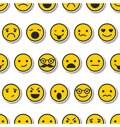 Seamless pattern with color emoticons characters vector image