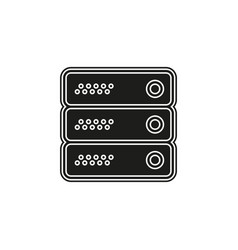 server data racks - computer storage icon vector image