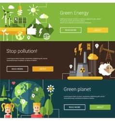 Set of ecological flat modern vector image