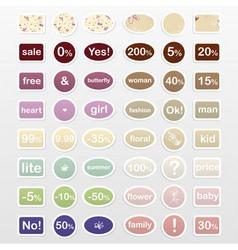 Set of labels vector