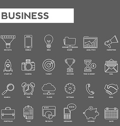 Set of thin lines web icons for business marketing vector image
