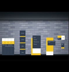 set signage design vector image
