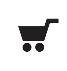 Shopping cart - black icon on white background vector