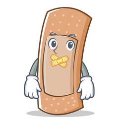 silent band aid character cartoon vector image
