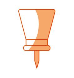 Silhouette pushpin symbol icon design vector