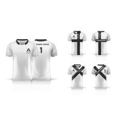 specification soccer sport esport gaming t shirt vector image