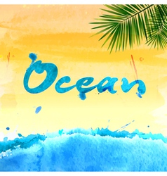 Summer watercolor background vector