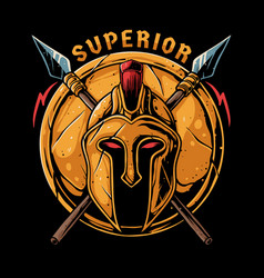 superior spartan vector image