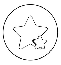 two star best of the best icon black color simple vector image