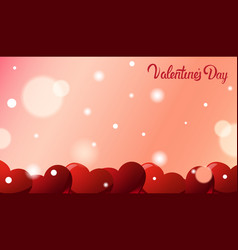 valentines day greeting card background with red vector image