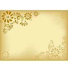 vintage floral background - old paper vector image
