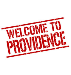 Welcome to providence stamp vector