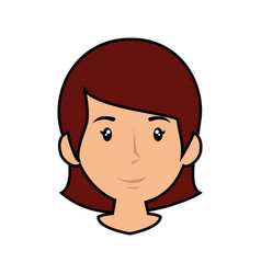 woman smiling cartoon vector image
