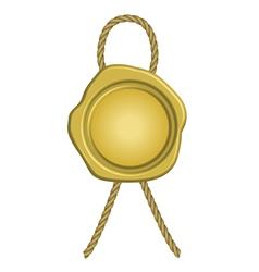 golden wax seal vector image vector image