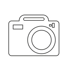 photo camera picture image thin line vector image