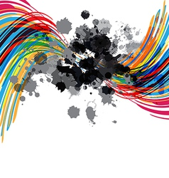 artistic abstract design vector image vector image