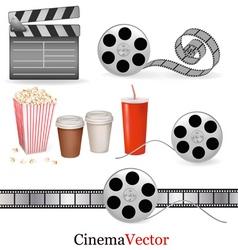 big set of cinema objects vector image