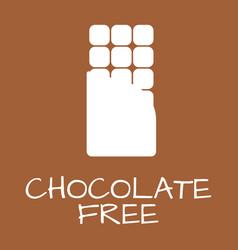 chocolate free label food intolerance symbols vector image vector image