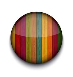 circle wooden app icon vector image