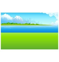 City Skyline Green landscape vector image