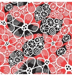 Graphic pattern and abstraction flowers vector image vector image
