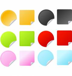 set of multicolored badges vector image vector image