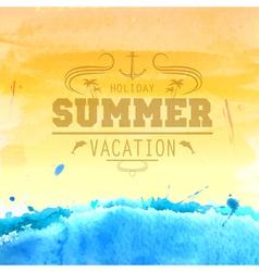 Summer watercolor background vector image