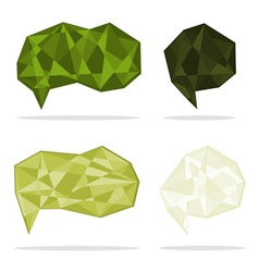trendy crystal shapes vector image vector image