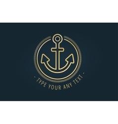 Anchor logo icon Sea vintage or sailor vector image vector image