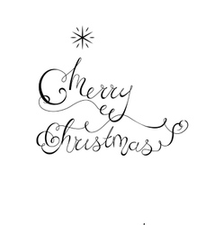 Christmas lettering with star vector